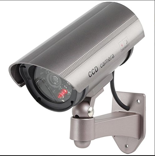 Flashing LED Fake Dummy Outdoor Camera Cam 30with Infrared IR Professional Design Cctv MWS