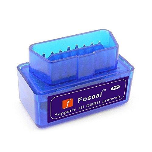 Preisvergleich Produktbild Diagnostischer Kfz-Scanner für die Motorkontrollleuchte von Foseal,  OBD2,  OBD 2,  OBDII,  Scan-Werkzeug mit Bluetooth für Android- und Windowssysteme,  Torque Pro