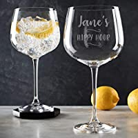 Personalised Gin Cocktail Glass/Engraved gin glass for women/Christmas birthday personalised gift/engraved cocktail goblet