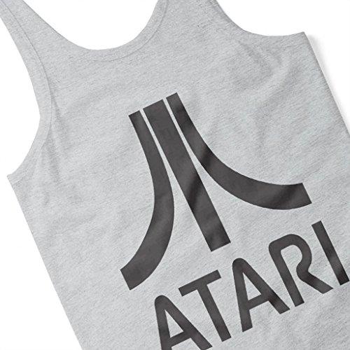 Atari Gaming Black Logo Women's Vest Heather Grey