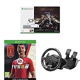Xbox One S - Consola 1 TB + Sombras De Guerra + Game Pass (1M) + FIFA 18 + Volante TMX Force Feedback