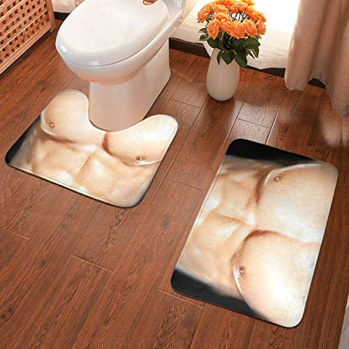 Vanesa Joyce Muskel-Mann-Wolldecke-Teppich-Fußmatten-Badezimmer-Küche Rutschfester Inneneingang