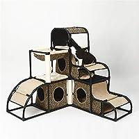 Yzibei Cómodo Cat Escalada Marco Cat Jumping Platform Luxury Multifunción Desmontable Combinación Cat Supplies Pet Supplies (Color : B)