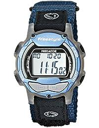 Freestyle - 7212227G - Shark Classic - Montre Homme - Quartz Digital - Cadran Argent - Bracelet Caoutchouc Bleu