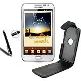 ***Samsung Galaxy Note GT-N7000 i9220 (1ère génération) ***Housse Etui Coque en Cuir pour Samsung Galaxy Note GT-N7000 i9220 (1ère génération) *** STYLET Ecran Capacitif OFFERT!!