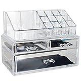 OPUL Indispensabile Organizzatore per Cosmetici in Plexiglass, Accessorio di Bellezza, Contenitore per Trucchi dal Design alla Moda immagine