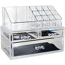 OPUL Indispensabile Make Up Organizer in Plexiglass, Accessorio di Bellezza, Cosmetic Organizer, Porta Trucchi dal Design alla Moda