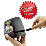 DIGITNOW! Slide Scanner Photo Negative Scanner Film Scanner Converter 2.36 Inch TFT LCD 5MP 10MP USB 2.0 5MP 35mm Negative Film and Slide Scanner TFT LCD Display