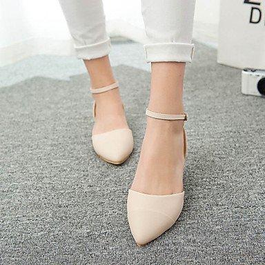 LvYuan Da donna-Sandali-Formale Casual-D'Orsay-Piatto-Finta pelle-Marrone Rosa Beige light brown