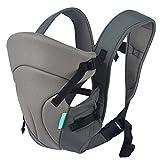 HarnnHalo - Porte-bébés ventraux & dorsaux, Baby Carrier Multifonctionnel 3 Positions Enfant(3-12 Mois) 11 Gris