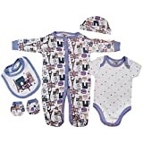 Zivaro Presents Gifts for Newborn Baby Boys Girls Toddler Unisex Cute Clothing Sets Newborn 0-3 Months Outfits Bundles Pack Paris First Christmas Xmas Christening from Aunty Uncle Grandma
