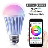 Magic Hue Smart LED 7.5W(550Lumens) WiFi Lampe, dimmbar Birne mit Amazon Alexa, Ifttt, Google Home...