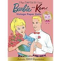 Barbie and Ken Vintage Paper Dolls: 50th