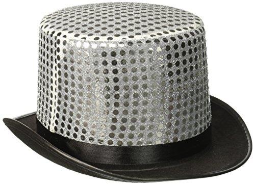(Sequin Top Hat - Silver (Hüte & weitere Kopfbedeckungen))