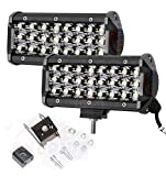 #6: Andride Heavy Duty 24 LED Fog Light / Work Light Bar Spot Beam Off Road Driving Lamp2 Pcs 72W CREE - Universal Fitting hence Good Fit on all Bikes and Cars (Set Of 2)