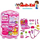 #4: Happy GiftMart Doctor Set with 15 Pcs Including Box Playset for Kids and Toddlers Baby (Pink)