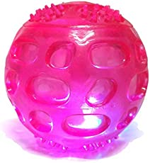 Foodie Puppies High Quality Imported Super Squeeze LED Ball for Dogs - Color May Vary