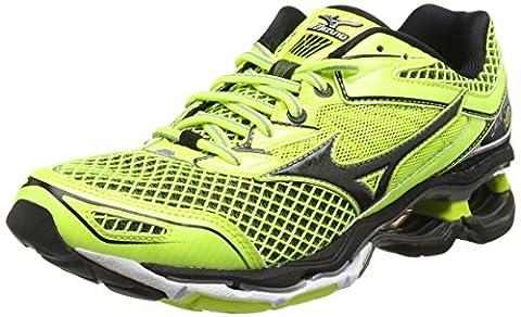 Mizuno Wave Creation 18, Chaussures de Running Compétition homme - Jaune - Yellow (Safety Yellow/Black/Silver), 45 EU ( 10.5 UK )