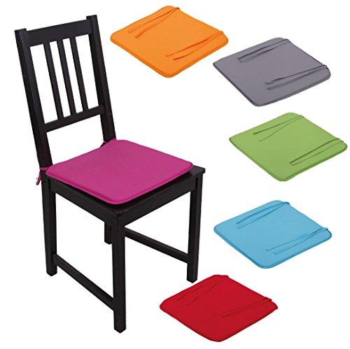 Stuhlkissen Stuhlauflage Sitzkissen Microfaser Auswahl: pink - fuchsia