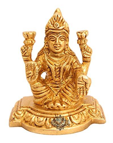 Indianartvilla ottone Laxmi Ji dea Idol |for Induismo religioso scopo tempio arredamenti