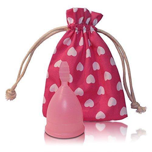 Menstruationstasse CozyCup SPORT aus medizinischem Silikon - Menstrual Cup für sportliche Frauen (rosa, 1 - - Tragen Unten Sport
