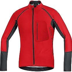 GORE Bike Wear Maillot Homens, térmica, em 2 1, Versátil, GORE WINDSTOPPER Soft Shell, Alp-X WS PRO SW-OFF Zip, tamanho L, vermelho / preto, SWPALP359905