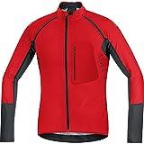 GORE BIKE WEAR- Hombre- Maillot de ciclismo- ALP-X PRO WINDSTOPPER Soft Shell Zip-Off,, color rojo/negro, talla S, SWPALP