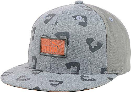 Puma l¨¦opard Animal Flatbill Snapback Cap Hat (taille unique, gris-orange)