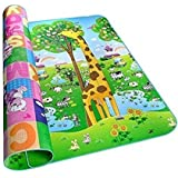 Gion Waterproof Double Sided Baby Crawl Floor Play Mat for Kids