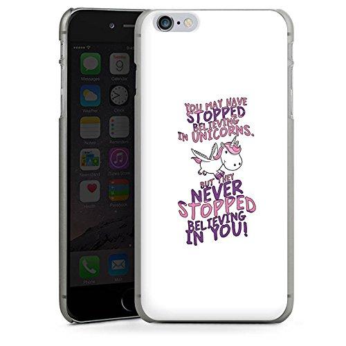 Apple iPhone X Silikon Hülle Case Schutzhülle Einhorn Unicorn Sprüche Hard Case anthrazit-klar