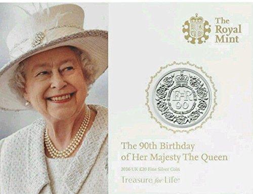 der Königin Ihr 90th Geburtstag Königliches Münzamt UK Andenken schöne Silbermünze 2016
