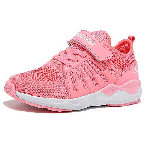 Turnschuhe Kinder Hallenschuhe Jungen Sportschuhe Mädchen Laufschuhe Sneaker Outdoor für Unisex-Kinder  25 EU=26 CN,  Pink (Turnschuhe Schuhe Mädchen)