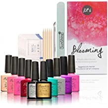uñas kit Sannysis Uñas de gel Luminoso Gel de uñas Botella Juego de barnices de uñas (B)