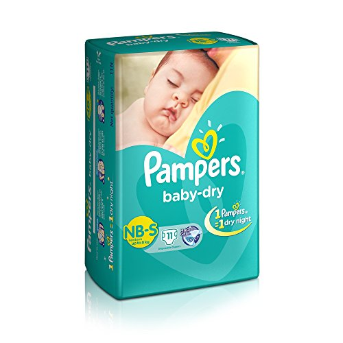 Pampers Small Size Diapers for New Born (11 Count)