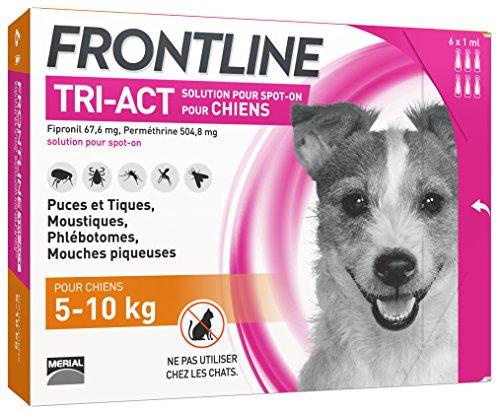 FRONTLINE TRI-ACT Chien - Anti-puces et anti-tiques...