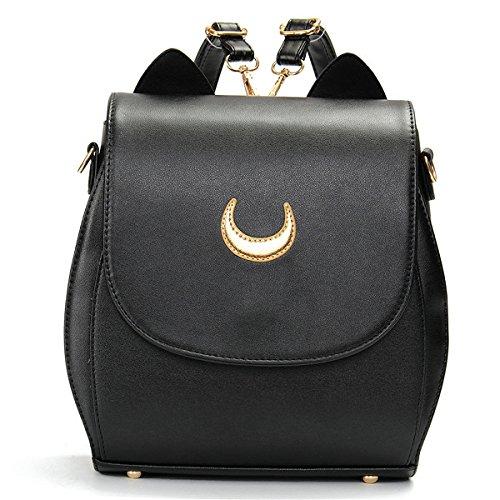 Donna Women Cat Sailor Moon Luna Backpack Girls Cute Cosplay Rucksack School Bags