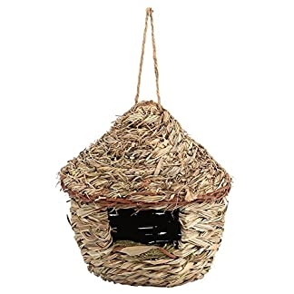 bird house, handwoven straw hanging bird house nest birdhouse home outdoor yard garden hanging decor for parrot canary other birds(l) Bird House, Handwoven Straw Hanging Bird House Nest Birdhouse Home Outdoor Yard Garden Hanging Decor for Parrot Canary Other Birds(L) 51uNs3 WSwL