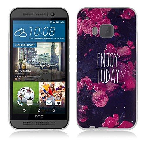 HTC One M9 Hülle, HTC M9 Hülle, Gift_Source [ Genieße den Tag ] Hülle Case Transparent Weiche Silikon Schutzhülle Handyhülle Schutzhülle Durchsichtig TPU Crystal Clear Case Backcover Bumper Case für HTC One M9 (Htc-source-fällen)