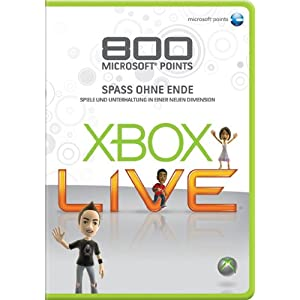 Xbox 360 – Live Points Card 800