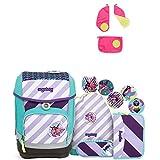 Ergobag Cubo ÜBärflieger Special Edition Schulrucksack-Set 6tlg + Sicherheitsset Pink