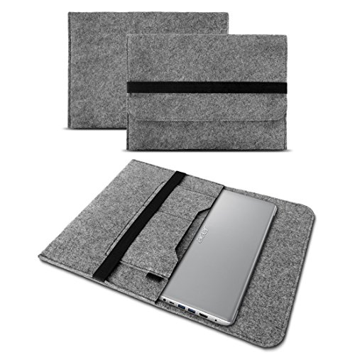 Acer TravelMate Spin B1 Tasche Hülle Filz Case Sleeve Schutz Cover Schutzhülle , Farbe:Grau
