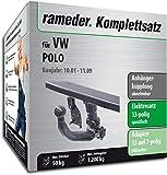 Rameder Komplettsatz, Anhängerkupplung abnehmbar + 13pol Elektrik für VW Polo (145506-04804-1)