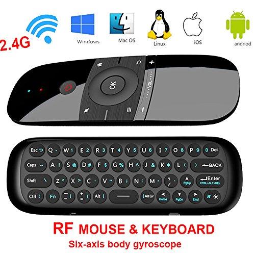 Air Mouse, Topsellerstore 2,4 GHz Wireless Fernbedienung Bewegung Smart TV Android TV Box Mini-Tastatur für Android TV Boxen, PCs, Laptops, Projektoren und Smart-TVs (NICHT FÜR SAMSUNG TV) (Tastatur-fernbedienung Für Smart Tv)