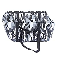 XFentech Foldable Breathable Pet Travel Carry Tote Bag for Small Dog/Cat,Convient for Go out,Camouflage Gray/S(35*20*22cm)