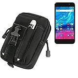 K-S-Trade Gürtel Tasche für Archos Core 55P Gürteltasche Schutzhülle Handy Hülle Smartphone Outdoor Handyhülle schwarz Zusatzfächer