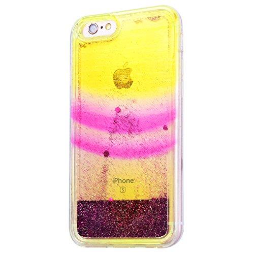 GrandEver iPhone 6/iPhone 6S(4.7 Zoll) Hülle Weiche Silikon Handyhülle TPU Bumper Schutzhülle für iPhone 6/iPhone 6S(4.7 Zoll) Rückschale Klar Handytasche mit Regenbogen Muster Anti-Kratzer Stoßdämpfu Color D