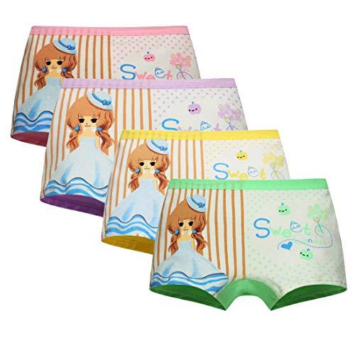 Usex Sense 12er Pack Kinder Mädchen Unterhosen- Sportliche Mädchen Pantys Hipster Shorts Slips Schlüpfer Süß Unterwäsche Größe 2-12 Jahre(M 3-5 Jahre, Mehrfarbig 1703)