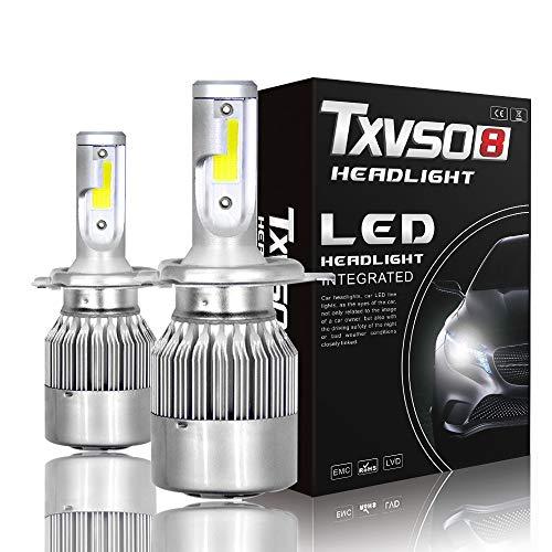 Ampoule De Phare À DEL H1 / H3 / H4 / H7 / H8 / H9 / H11 / H13 - Puces COB Très Lumineuses - 55W 6000K 26000LM Blanc Froid - Ampoules De Projecteur Haute Intensité / Faisceau Antibrouillard (Pack,9005
