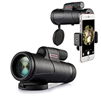 Monocular Telescope, MeeQee HD 12??42 High Power Monocular Scope for Adults with Phone Adapter, FMC BAK4 Prism Fog-proof Compact Spotting Scope for Birdwatching Sports Watching Hunting Archery Camping and Surveillance