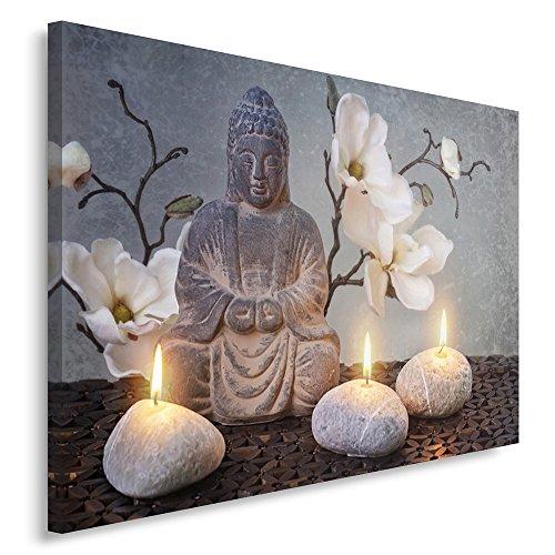 Feeby frames, quadro pannelli, pannello singolo, quadro su tela, stampa artistica, canvas 60x80 cm, buddha, cultura, candele, fiori, zen